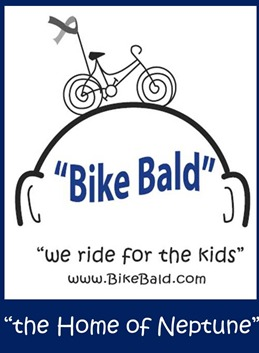 Bike Bald helps children facing cancer
