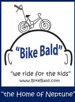 Bike Bald helps children facing cancer