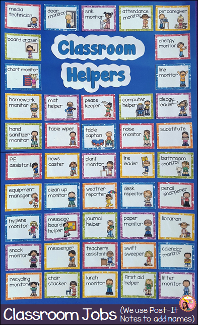 Classroom Jobs display
