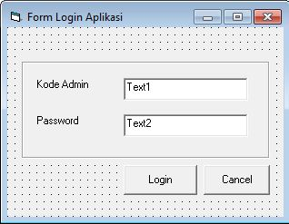 Membuat Form Login Aplikasi Perpus VB 6.0