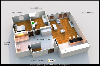 luksusowy apartament - projekt architektoniczny