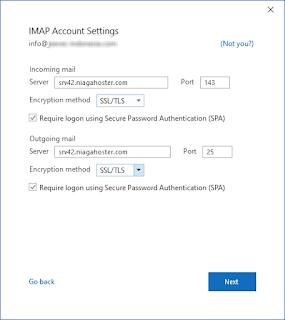 Menambahkan Akun Email di Office Outlook Hosting Cpanel Server