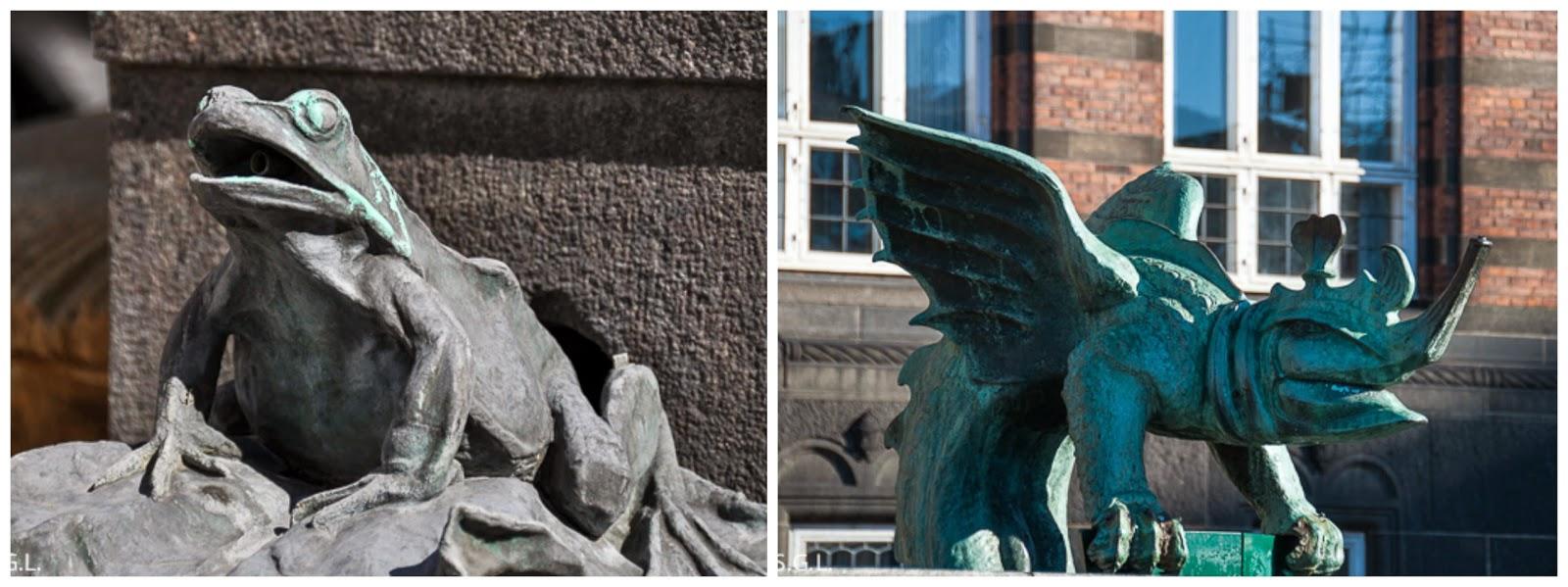 Detalle de las Figuras del ayuntamiento de Copenhague