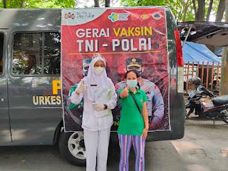 "Kapolres Nganjuk Adakan Giat ""Tebar Vaksin""  Utk Masyarakat"