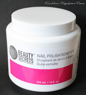 Beauty Secrets Nail Polish Remover in a jar