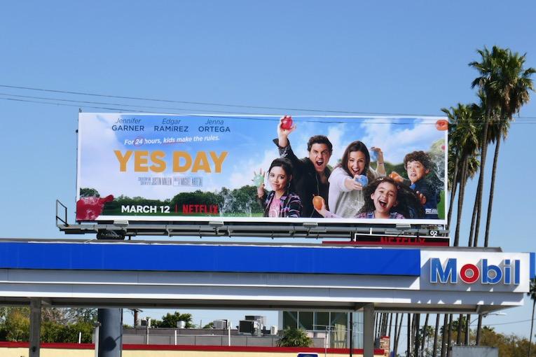 Yes Day Netflix movie billboard