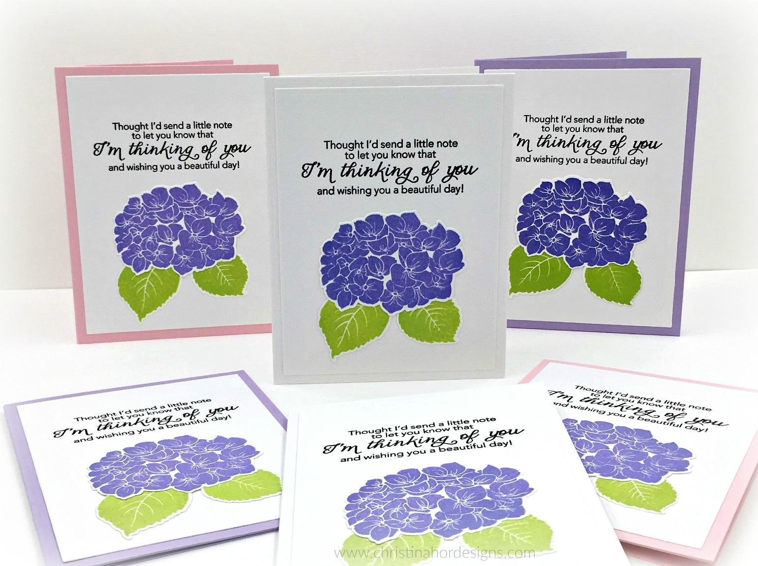 Hydrangea cards
