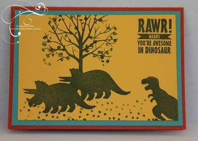 SU, boy card, dinosaurs, Hunting dinosaur scene, Tin of Cards