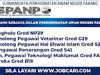 Jawatan Kosong di Suruhanjaya Perkhidmatan Awam Negeri Pahang