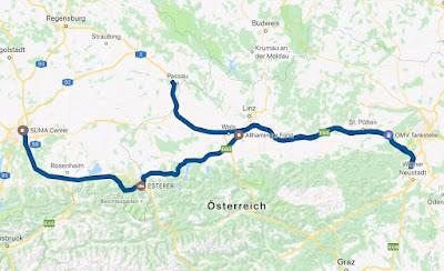 Strecke von Salzburg über Alland, Helenental, Salzburg, Untersberg