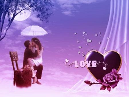 hình ảnh về tình yêu đẹp lãng mạn dễ thương, love hôn nhau