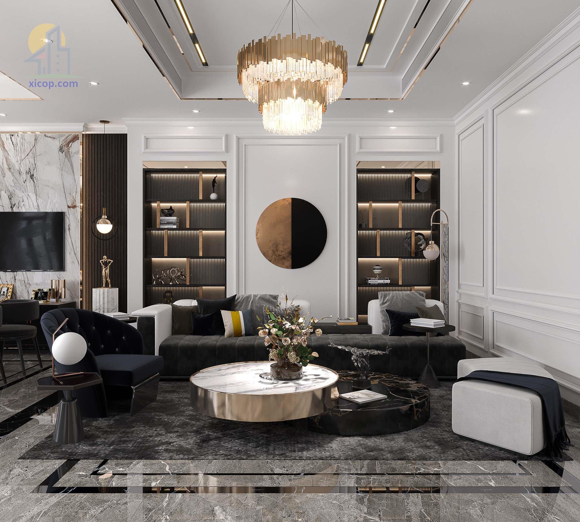 Các mẫu thiết kế nội thất nhà phố đẹp, chung cư đẹp và hiện đại số 1
