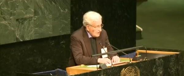 Discurso de Noam  Chomsky en las Naciones Unidas sobre el conflicto Palestina-Israel (Transcripción)