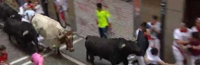 Cuarto encierro de San Fermín, toros de Fuente Ymbro