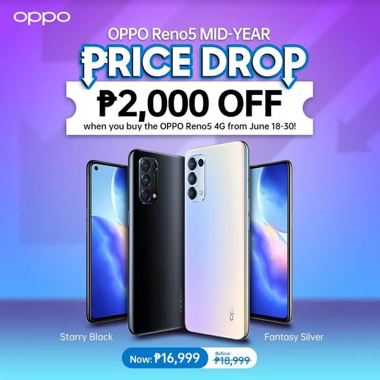 PRICE DROP ALERT: OPPO Reno5 4G Now Only Php16,999 (from Php18,999) Until July 31