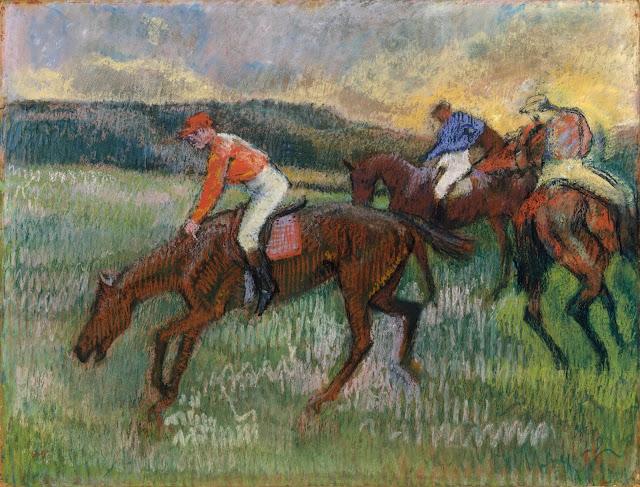 Эдгар Дега - Три жокея (ок.1900)