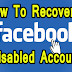 How to Recover a Disabled Facebook Account 2019 - Hindi