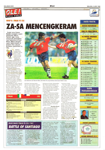 WORLD CUP 1998 ITALY VS CHILE IVAN ZAMORANO MARCELO SALAS