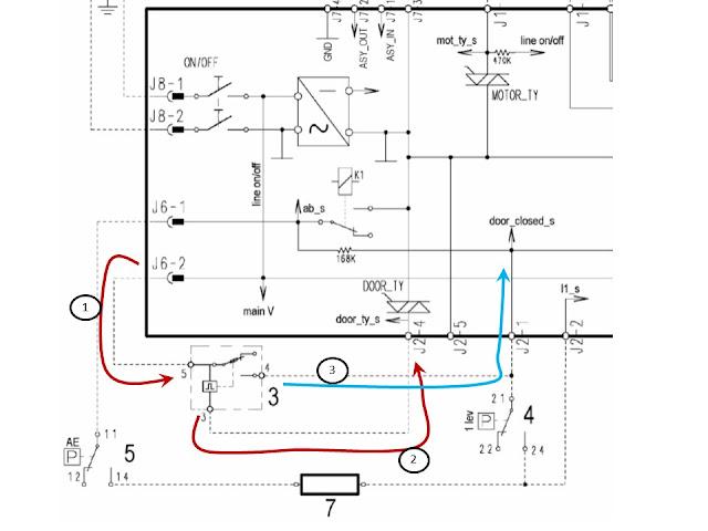 Conexión retardador de puerta zanussi con programador EWM1000
