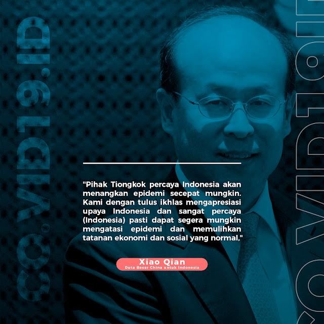Pemerintah Tiongkok Percaya Indonesia Akan Segera Menagn Melawan Covid-19
