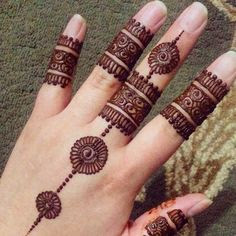 Adorable Ring Mehndi Designs For Fingers