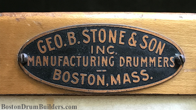 1920s George B. Stone & Son Drum Bagde