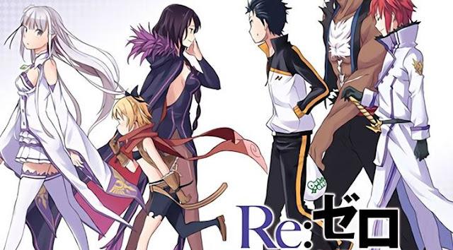 re zero, salah satu anime genre time travel terbaik