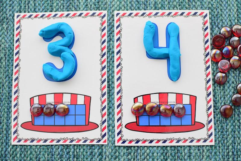 4th of July Ten Frames