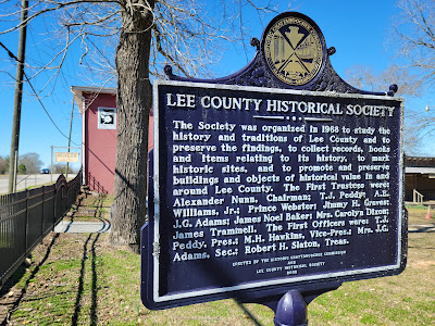 Lee County Historical Society historical marker