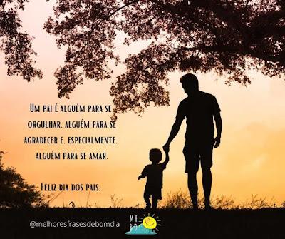 Dia dos pais - Um pai é alguém para se orgulhar.