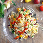 Rainbow Vegetable Orzo Pasta Salad