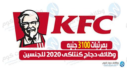 وظائف خالية للجنسين في دجاج كنتاكي ( KFC ) بمرتب 3100جنيه