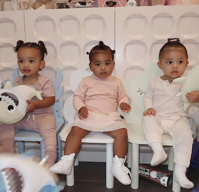 Kardashian Triplets! Stormi,True and Chicago in adorable photos..