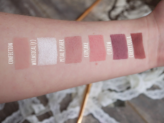 makeup geek pink and purple eyeshadow swatches