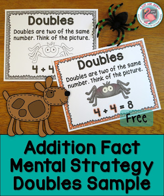 These free samples, compiled from three of my best-selling addition resources, are for reinforcing the doubles addition fact strategy with first and second graders.