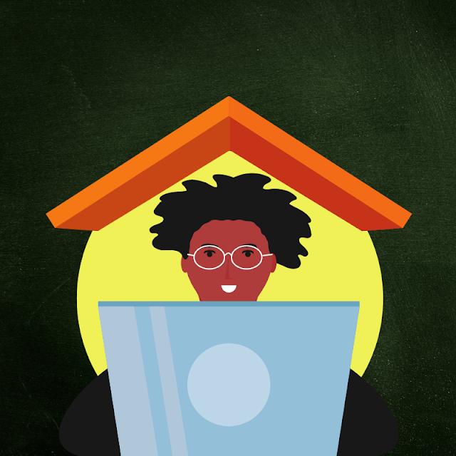 Gambar Kartun Anak Belajar di Rumah (8)