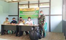PJ Danramil 1205-16/Pemuar Pelda Suki Widodo Berikan Bimbingan ke Team Satgas Desa Aman COVID-19