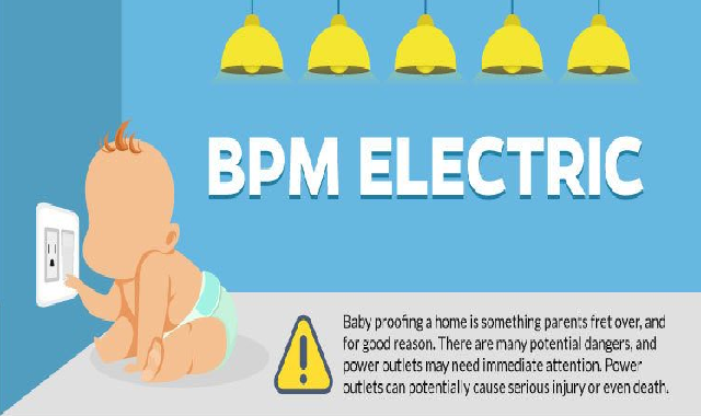 Electrical Safety Tips For Babies #infographic
