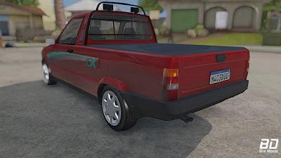 Fiat Fiorino LX para GTA San Andreas - Traseira