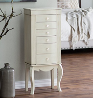 Queen Anne Style Jewelry Armoire