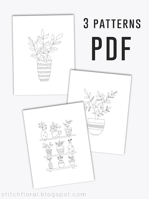 Free hand embroidery patterns plants