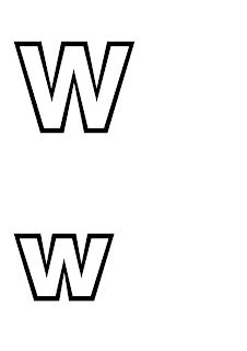 litera w do druku