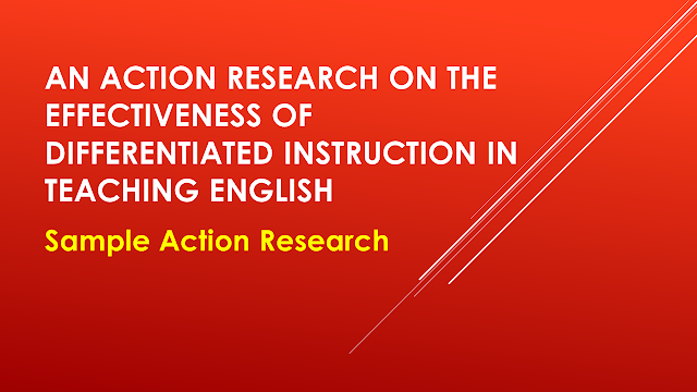action research paper on differentiated instruction Differentiated instruction: a research basis  occasional papers, and  subsequently a series of research  this paper presents an action.