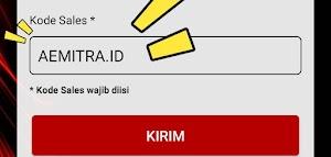 Daftar AEMITRA menggunakan KODE SALES, KODE MARKETING, KODE REFFERAL. Dan membuat KODE SALES.