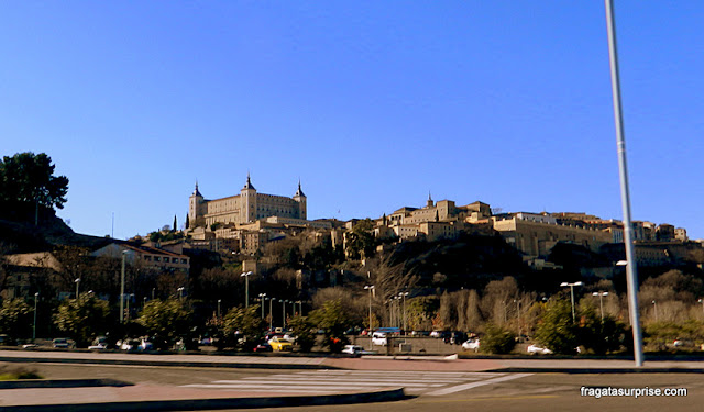 Chegada a Toledo, Espanha, vista do Alcázar