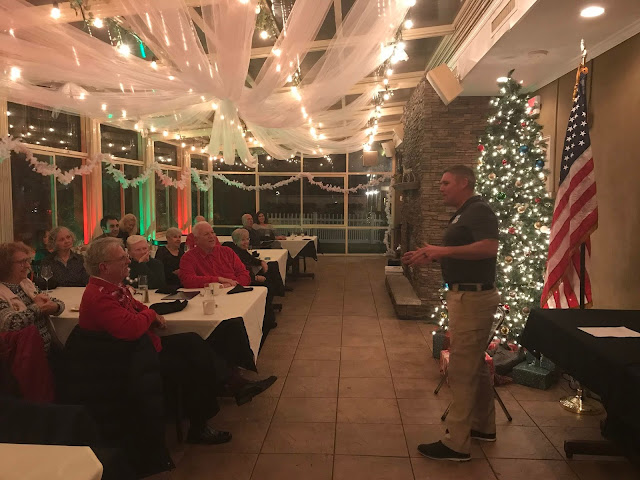 STA Manasquan Inlet Commander BOSN3 Michael Kristiansen spoke to the flotilla about all the accomplishments this year and how the Auxiliary contributed to mission success at the Station.