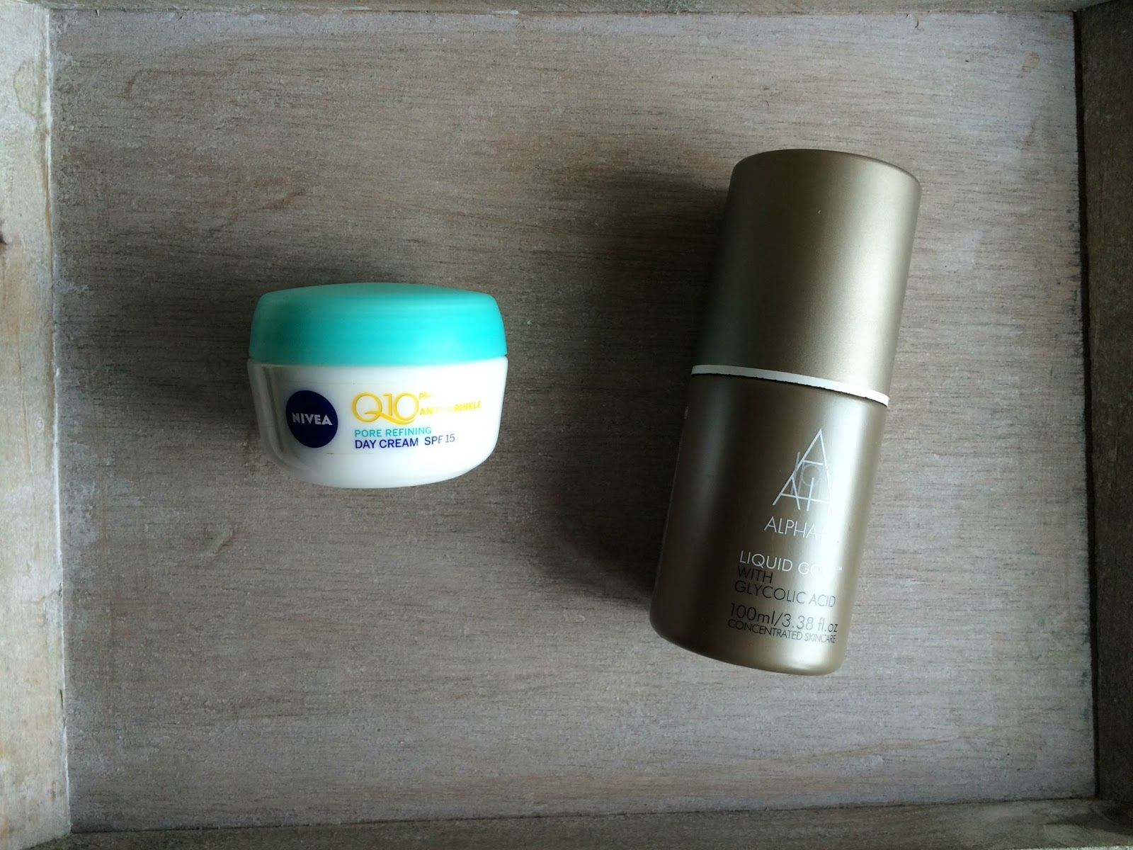product empties skincare nivea alpha h liquid gold