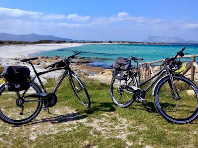 cycling sardinia touring bike rental in Orosei Olbia emerald coast sardinia italy