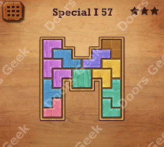 Cheats, Solutions, Walkthrough for Wood Block Puzzle Special I Level 57