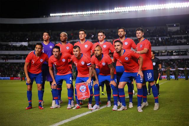 Formación de Chile ante México, amistoso disputado el 16 de octubre de 2018